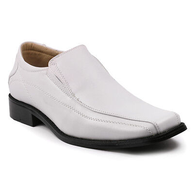 Men's White Slip On Fashion Loafers Dress Classic Shoes