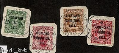 New Zealand NZ 1913 Auckland Exhibition Set USED on Pieces