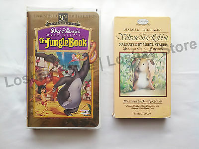 JUNGLE BOOK 30th Ann Masterpiece Collection THE VELVETEEN RABBIT 2 VHS Tapes