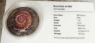 "Silbermünze Ammonite Togrog ""Evolution of Life"" 1 oz"