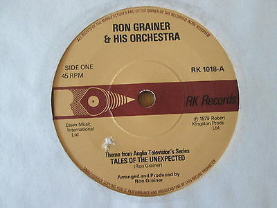 """Ron Grainer & His Orchestra – Tales Of The Unexpected - UK 7"""" 1979"""
