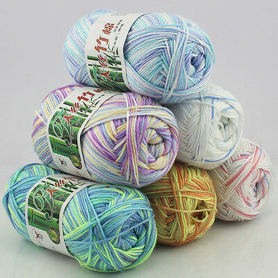 Baby Soft Bamboo Crochet Cotton 50g Fingering Knitting Wool Yarn 30colors