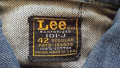 Vintage 60's Lee Riders 101j denim jacket size 42