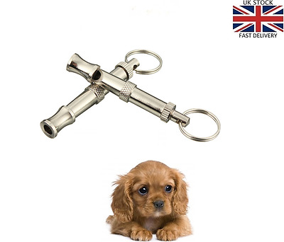 Adjustable Sound Dog Puppy Pet Training Whistle Silent Ultrasonic Key Chain - UK