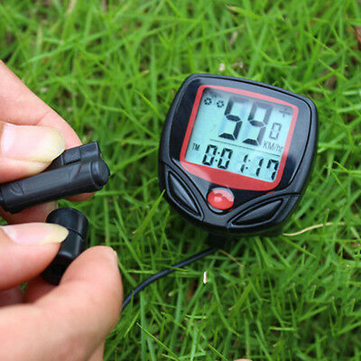 LCD Bicycle Bike Wired  Computer Speedometer Speedo Odometer Electronic Cycling