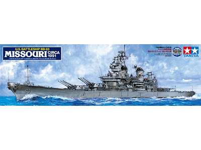 Tamiya 1/350 USS Missouri BB-63 (Circa 1991) Plastic Model Kit Brand New 78029