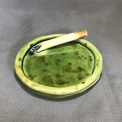 40s Australian Studio Pottery ASHTRAY CIGARETTE trinket dish by CHRISTINE PECKET