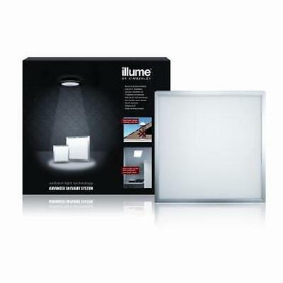 Illume Advanced Skylight System Square 400Mm Solar Powered With Led Panel Silver