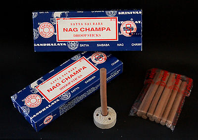 2 Packets 20 KING DHOOP STICKS Incense Insence Perfumed Dhoops SATYA NAG CHAMPA