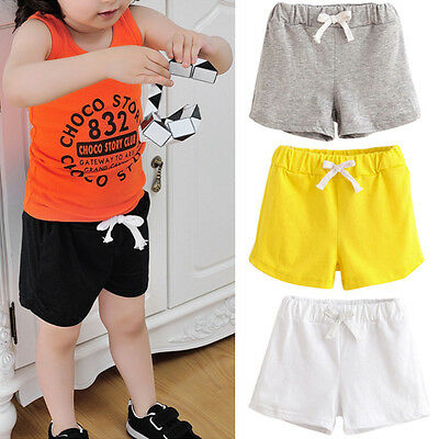 Summer Kids Toddler Baby Boy Girl Beach Shorts Short Track Pants Casual Trousers