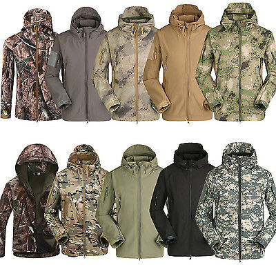 Men's WIND-PROOF Coat Thermally Lined Anorak Outdoor Hunting Jacket Camouflage