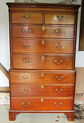 Fine George Iii Pale Mahogany Chest On Chest