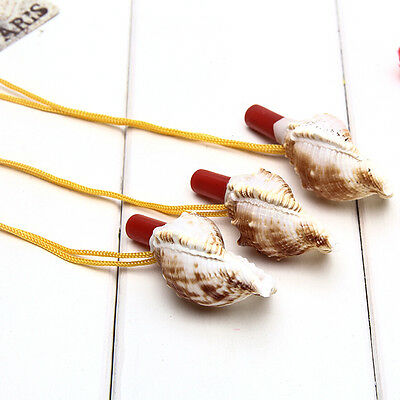 1 Pc Conch Horn Whistle Natural Shell Pendant Children Kids Educational ToysX3R