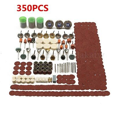 350pcs Set Rotary Tool Wheel Accessory For Grinding Sanding Polishing Kit AU