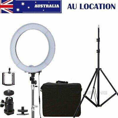 AU STOCK Dimmable Diva 14''5500K LED Ring Light For Video Photo With Light Stand