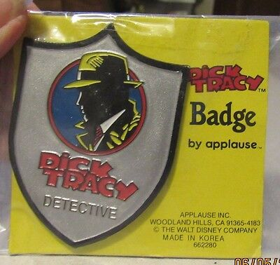 Vintage Dick Tracy Detective Badge from Applause on original packaging