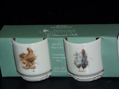 Royal Worcester Bone China Wrendale SET OF 2 EGG CUPS Chickens New & Boxed