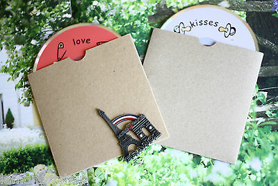 Kraft CD Sleeve Blank Envelopes 5pc DIY creative rustic craft wedding favours