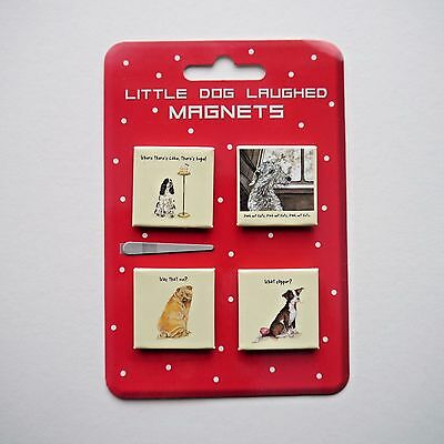 MAGNETS - Genuine THE LITTLE DOG LAUGHED Set of Magnets - 2 Designs Available