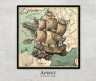 """Extra LARGE Antique Map of France, France Map print, fine art print , 56"""" x 56"""""""