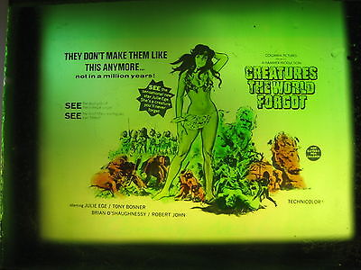 CREATURES THE WORLD FORGOT 1971 Australian cinema movie projector glass slide