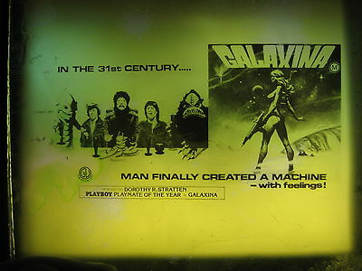 GALAXINA '80 Orig Australian cinema movie projector glass slide Dorothy Stratten