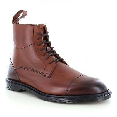 Dr Martens Winchester Mens Leather 7-Eyelet Zip Boots Oak Brown