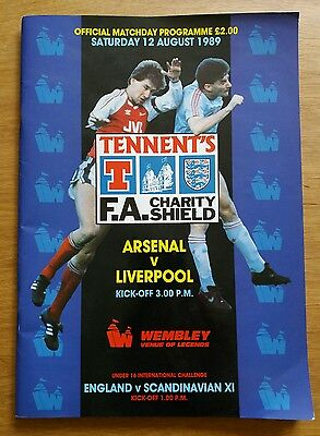 KENNY DALGLISH AUTOGRAPHED 1989 Charity Shield Programme - Arsenal vs Liverpool