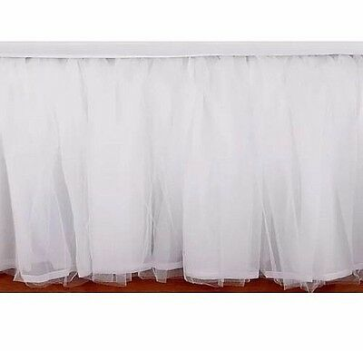 Pottery Barn Kids Tulle WHITE crib bed skirt Ballerina PRINCESS