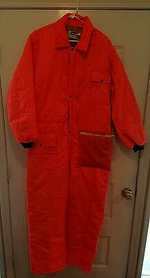 Skagway Sportswear Hunting Orange Overalls Lined Coveralls Size XL