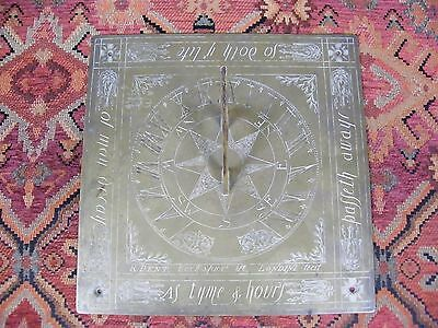 Antique Bronze Sundial Inscribed R.dent Cockspur St Londini Fecit