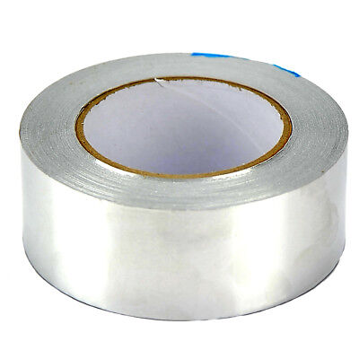 48mm x 45m Aluminium Foil Tape Silver Reflective Duct Self Adhesive Roll Tape