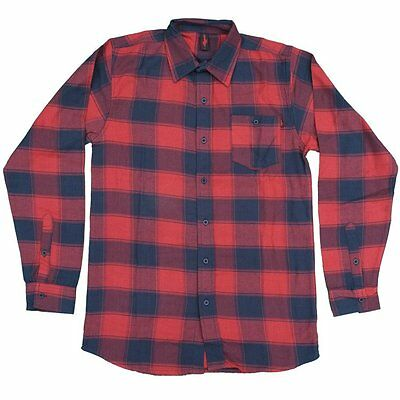 Deathwish - Flannel / Plaid Shirt Black Red M L Xl - New Skateboards Baker Thps