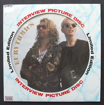 Eurythmics: Limited Edition Interview Picture Disc UK Vinyl (Baktabak, 1989)