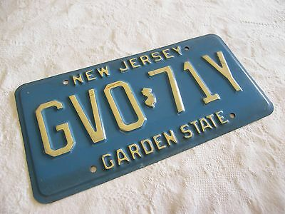 Vintage Real American Metal Number Plate From New Jersey Usa Great For Display