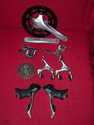 Shimano 2 x 9 speed mixed double road groupset - Tiagra 105 Sora
