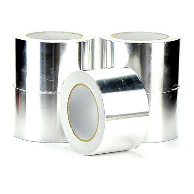 96mm x 45m Aluminium Foil Tape Silver Reflective Duct Self Adhesive Roll Tape