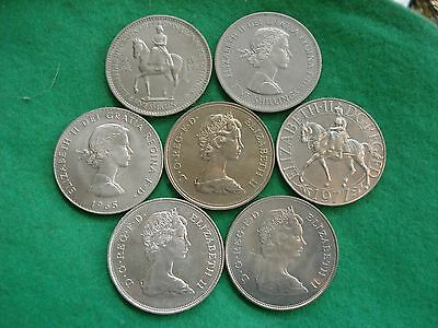 FULL SET ELIZABETH II crowns 1953 1960 1965 1972 1977 1980 & 1981 a/Unc FREEPOST