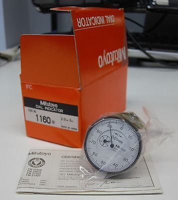 Mitutoyo 1160 Back Plunger Dial Indicator 0.01mm - 5mm Brand New