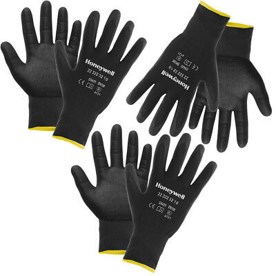 3 Pairs Honeywell Nitrile Tough Work Gloves, Mens Work Gloves, Work Gloves Women