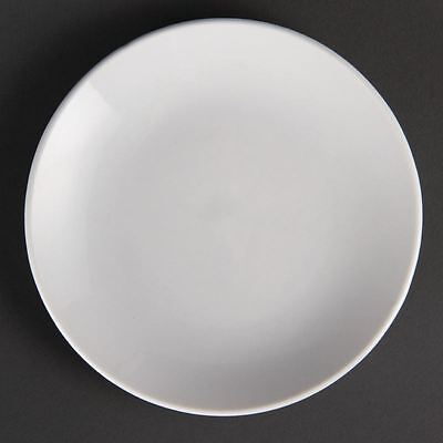 Olympia White Ware Coupe Plates Restaurant Food Serving Dishes Tableware 12pc
