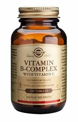 Solgar Vitamin B-Complex with Vitamin C Tablets - 100 tablets
