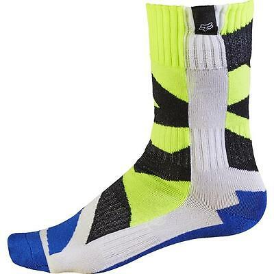 FOX Junior MX Creo Motocross Kinder Socken - weiss-gelb Motocross Enduro MX Cros