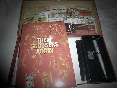 Liverpool FC Membership Box 2014-15 Boxed with 50th Anniversary of Europe Book