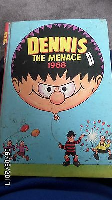 DENNIS THE MENACE Annual Book 1968 - Beano Comic