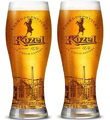 Kozel Pint Glasses (Set of 2) Brand New