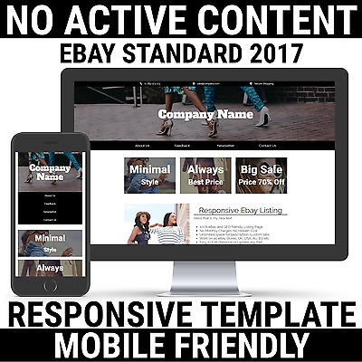 Ebay Listing Template Design Auction Mobile Professional Responsive Fashion 2017