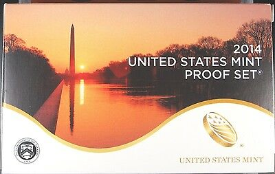 2014 (S) MINT ANNUAL PROOF SET 14 COINS FROM U.S. MINT IN OGP with COA (P16)