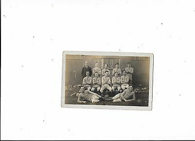 Postcard Unknown Football Team Group Early