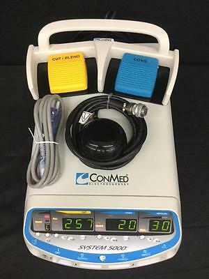 ConMed 5000 generator - BIOMED CERTIFIED - includes foot switches. Same as 2450